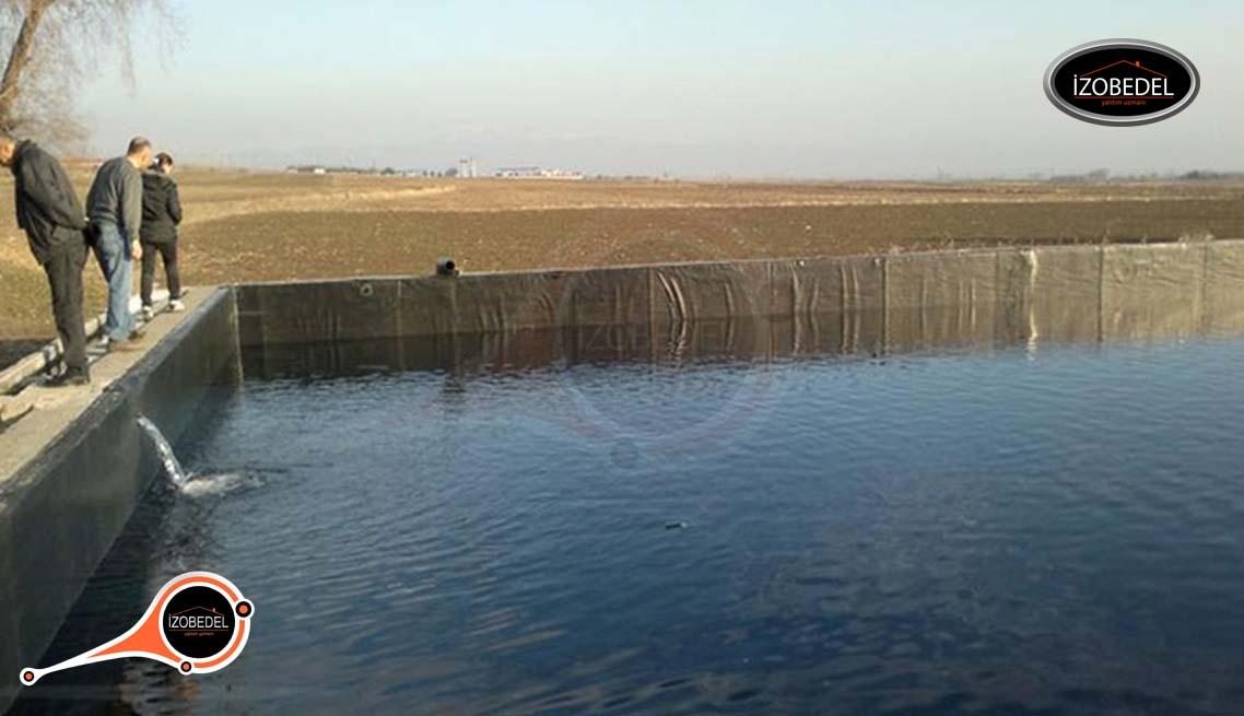 polyurea su göletleri