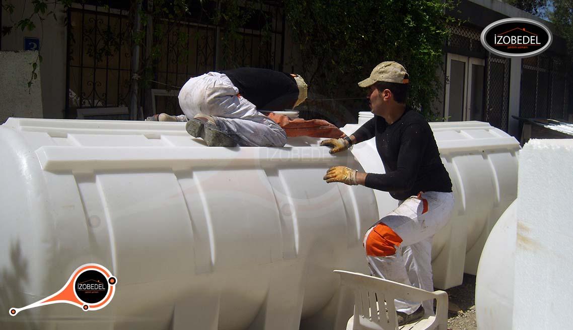 sprey poliüretan köpük tank silo